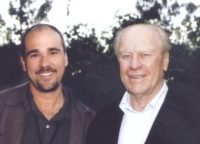 Burk Rosenthal and former president Gerald Ford at the President's Advisory Council 2001