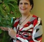 Cindy Pennington receives the Co-Employee of the Year Award February 2008