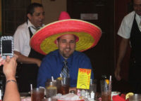 Burk Rosenthal celebrates his birthday in style at Mercado Juarez April 2010