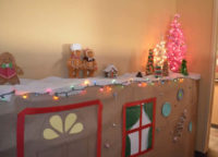 Our gingerbread house theme?brought joy to many at the Open House December 2013