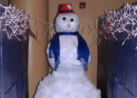 The holidays are always festive at RRP! The staff created a 6′ tall Frosty for the Holiday Open House December 2012