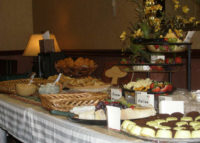 Rosenthal's cheese and dessert spread is a hit at Rosenthal's Fort Worth Wine & Cheese Social May 2010