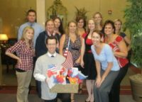 RRP sends a gift basket to Shawn's brother on the front lines in Afghanistan for Memorial Day May 2010