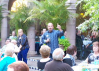 Burk tells a joke at our 20th Anniversary Celebration at Joe T. Garcia's May 2013